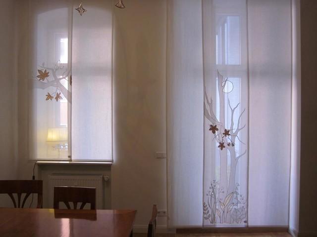 Berliner altbau modern wohnzimmer berlin von unikatessen berlin - Wohnzimmer vorhange modern ...