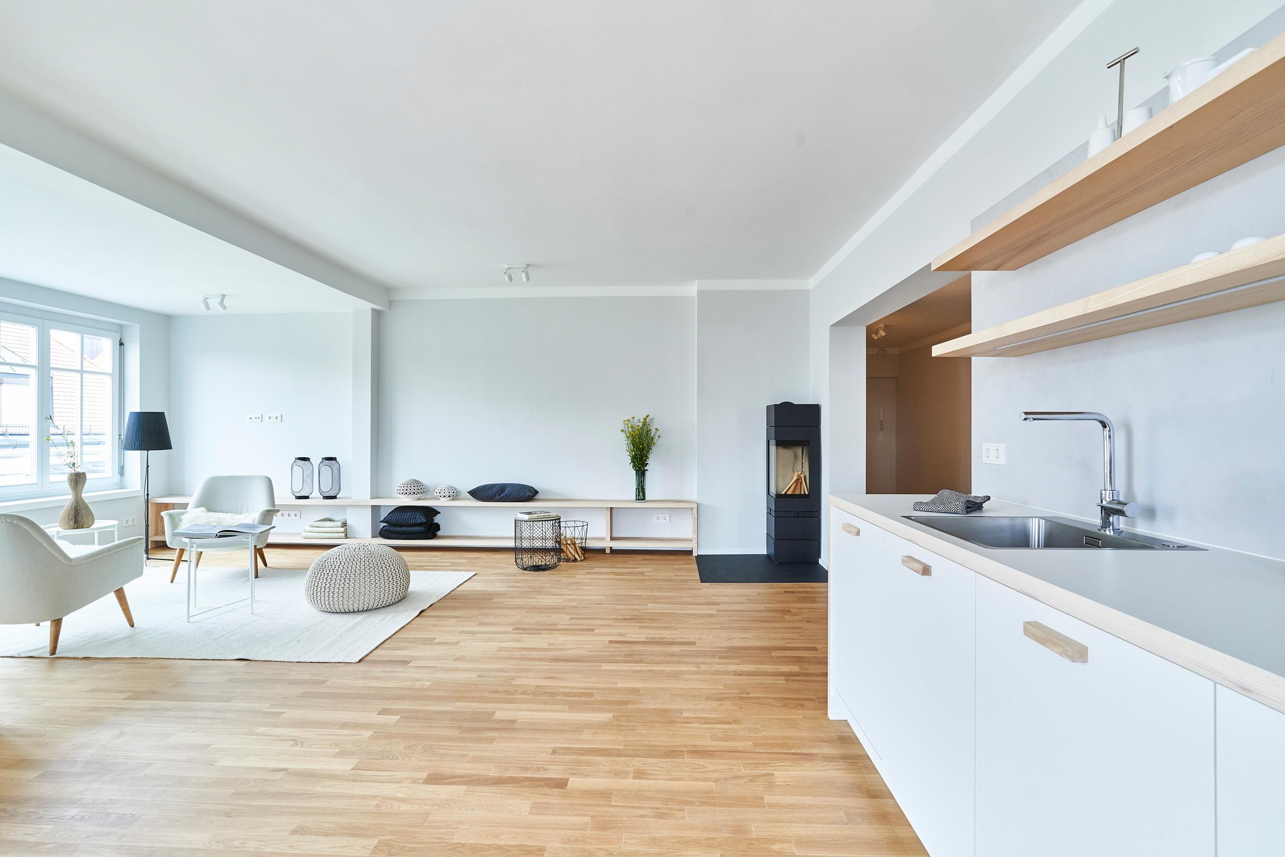Bezug Küche zu offenem Wohnraum
