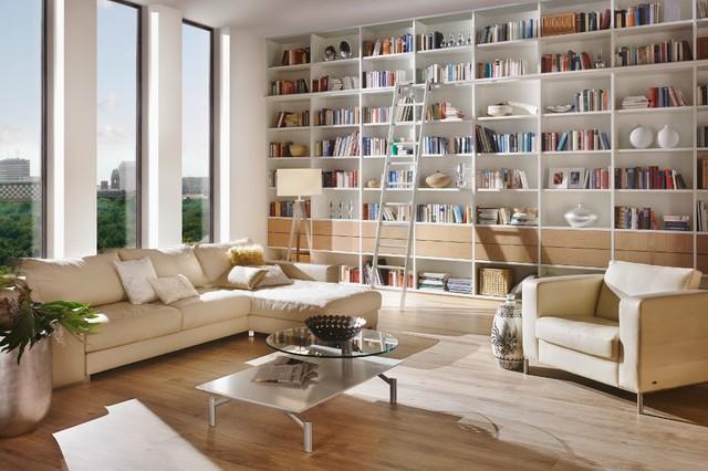 Lieblich Bibliothek Modern Wohnzimmer