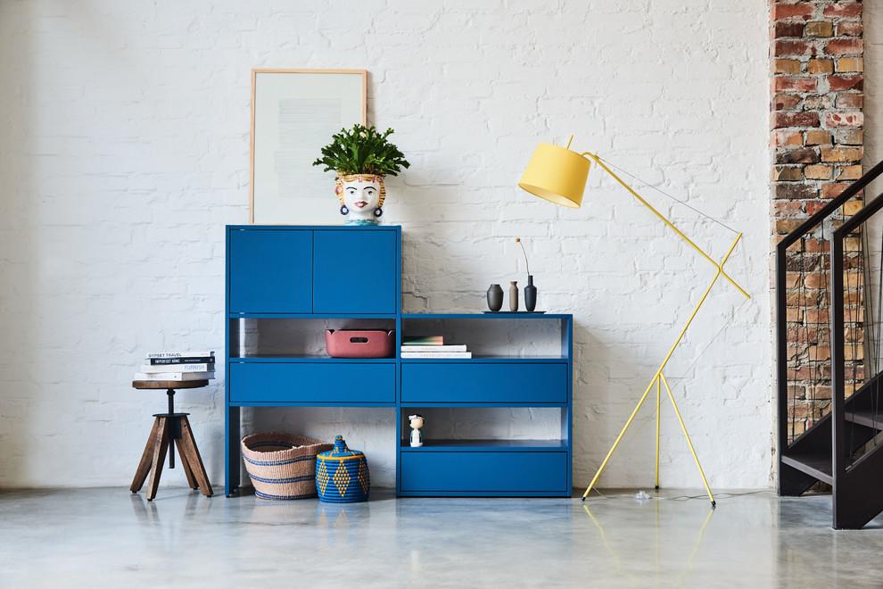 Blaues Stufen Sideboard Modern Living Room Hamburg