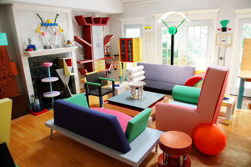 Family room - eclectic family room idea in Other