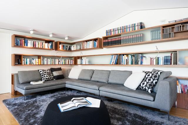 Dachloft moderne-salle-de-sejour