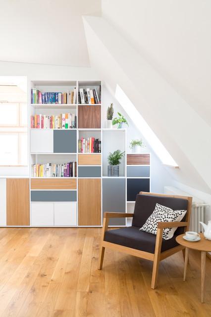 Dachschrgenlsung Im Wohnzimmer Skandinavisch