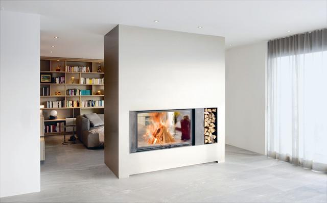 durchsichtkamin modern wohnzimmer m nchen von r egg studio oberbayern gmbh. Black Bedroom Furniture Sets. Home Design Ideas