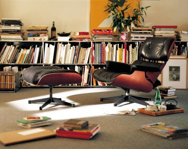 Eames Lounge Chair + Ottoman Vitra Skandinavisch Wohnbereich