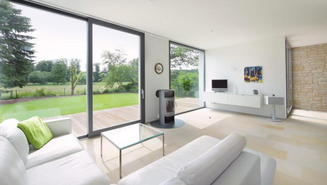 Einfamilienhaus An Der Hessischen Bergstrasse Modern Wohnzimmer
