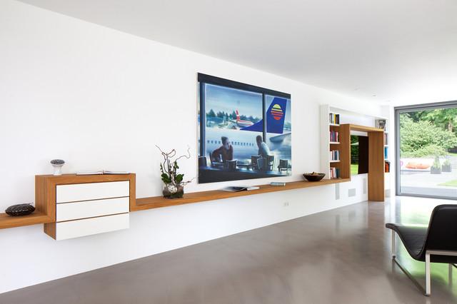 Einfamilienhaus in meerbusch modern wohnzimmer essen for Architekten wohnzimmer