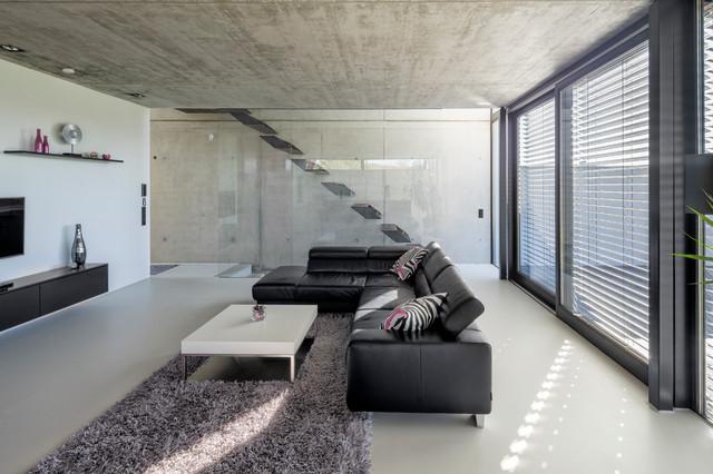 Einfamilienhaus Ro10 Contemporain Salon Stuttgart