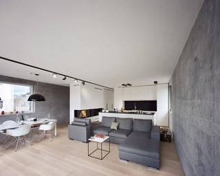 einfamilienwohnhaus aus infraleichtbeton minimalistisch. Black Bedroom Furniture Sets. Home Design Ideas