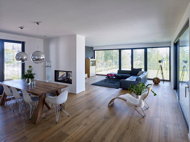 einfamilienwohnhaus g q minimalistisch wohnbereich sonstige von architekturb ro hermann. Black Bedroom Furniture Sets. Home Design Ideas