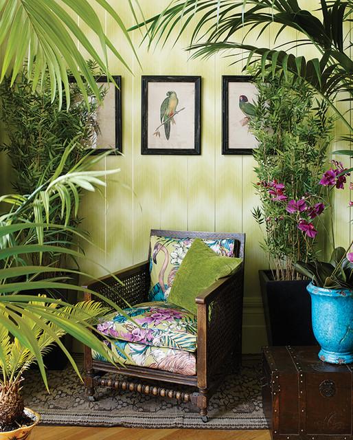 Englische Wohnzimmer Tapeten Und Stoffe Von Osborne Little Cubana Tropical Living Room