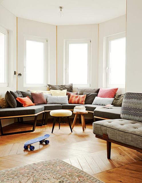 french modern apartment glockenbach munich modern wohnzimmer m nchen von buero philipp. Black Bedroom Furniture Sets. Home Design Ideas