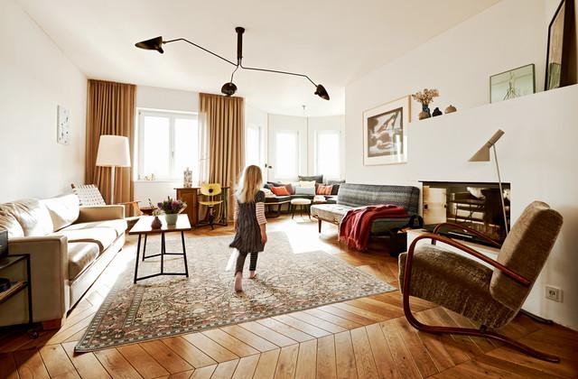french modern apartment Glockenbach Munich - Modern - Wohnzimmer ...