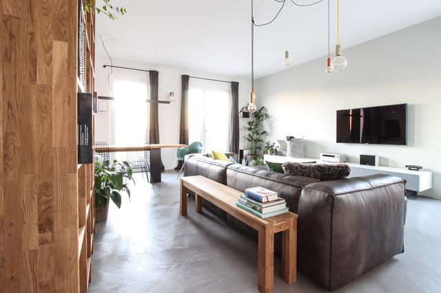 Betonfußboden Wohnzimmer ~ Fugenlose wand und bodengestaltung mit beton ciré microtopping