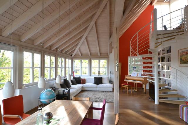 haupthaus wohnen modern wohnzimmer m nchen von. Black Bedroom Furniture Sets. Home Design Ideas