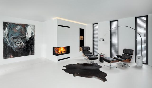 Haus R Minimalistisch Wohnzimmer Munchen Von