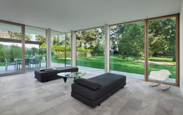 Haus w minimalistisch wohnzimmer other metro von for Haus minimalistisch