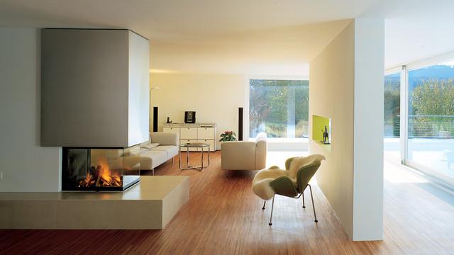 heizkamin mit 3 sichtscheiben modern wohnzimmer. Black Bedroom Furniture Sets. Home Design Ideas