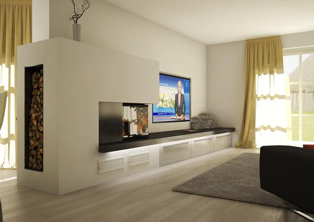 wohnzimmer kamin modern – Dumss.com