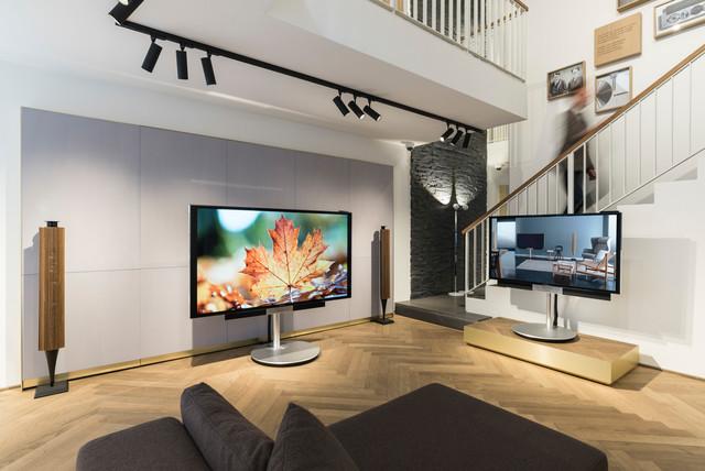 Edles Wohnzimmer Mit Akustik Wand Modern Wohnzimmer