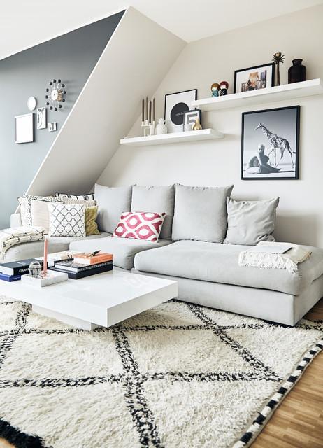 Houzzbesuch Eine Helle Dachgeschosswohnung Im Herzen Vom Hamburg Eimsbttel Skandinavisch Wohnzimmer
