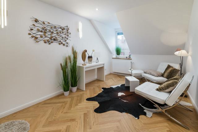 steinwand wohnzimmer mnchen, immobilienfotografie | innenansichten - modern - wohnzimmer, Design ideen