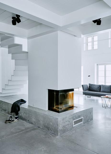 Ka2 neubau eines ferienwohnhauses modern wohnbereich for Friesenhaus modern einrichten