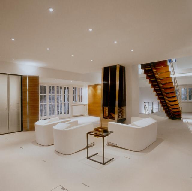 kaminzimmer privathaus s modern wohnbereich. Black Bedroom Furniture Sets. Home Design Ideas