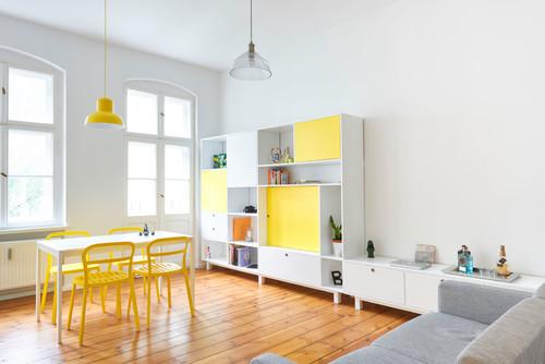Reforma de un peque o apartamento en berl n donde el for Salon de 40 metros cuadrados