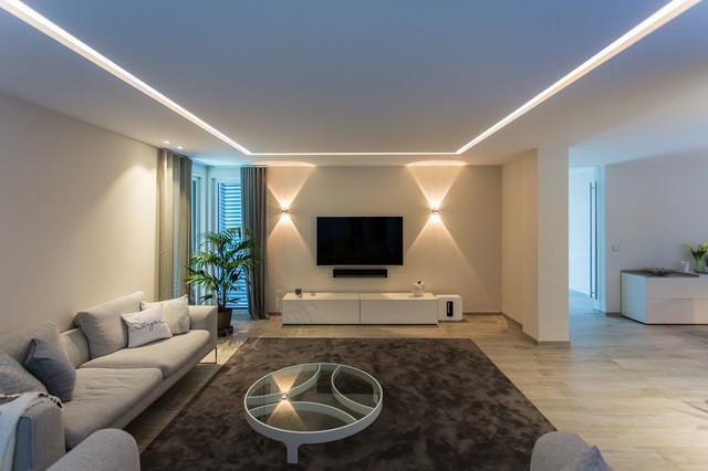 Lichtplanung Einfamilienhaus Nrw Modern Wohnzimmer