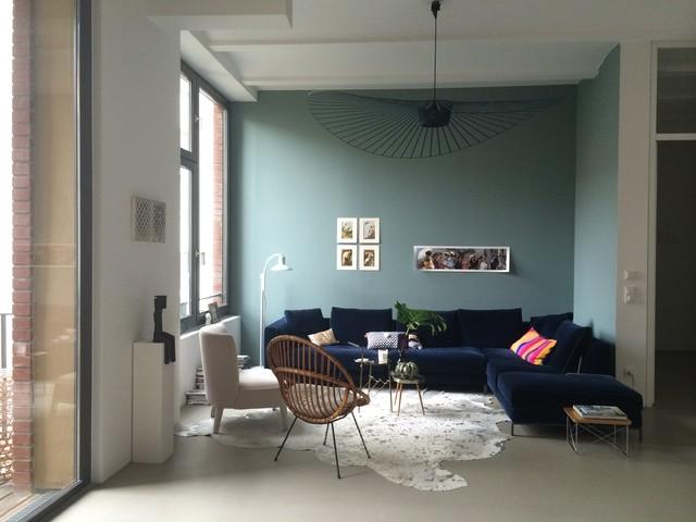 Loft Berlin Modern Wohnzimmer