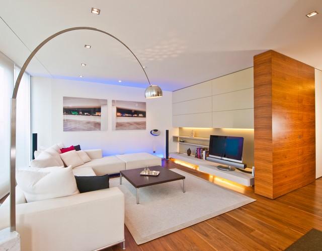loft o contemporary family room - Modern Wohnzimmer Design