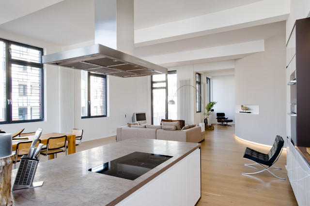 Loft wohnung in winterhude contemporary family & games room