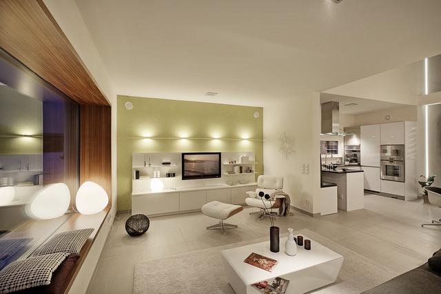 luxhaus musterhaus hessdorf n rnberg modern wohnzimmer. Black Bedroom Furniture Sets. Home Design Ideas