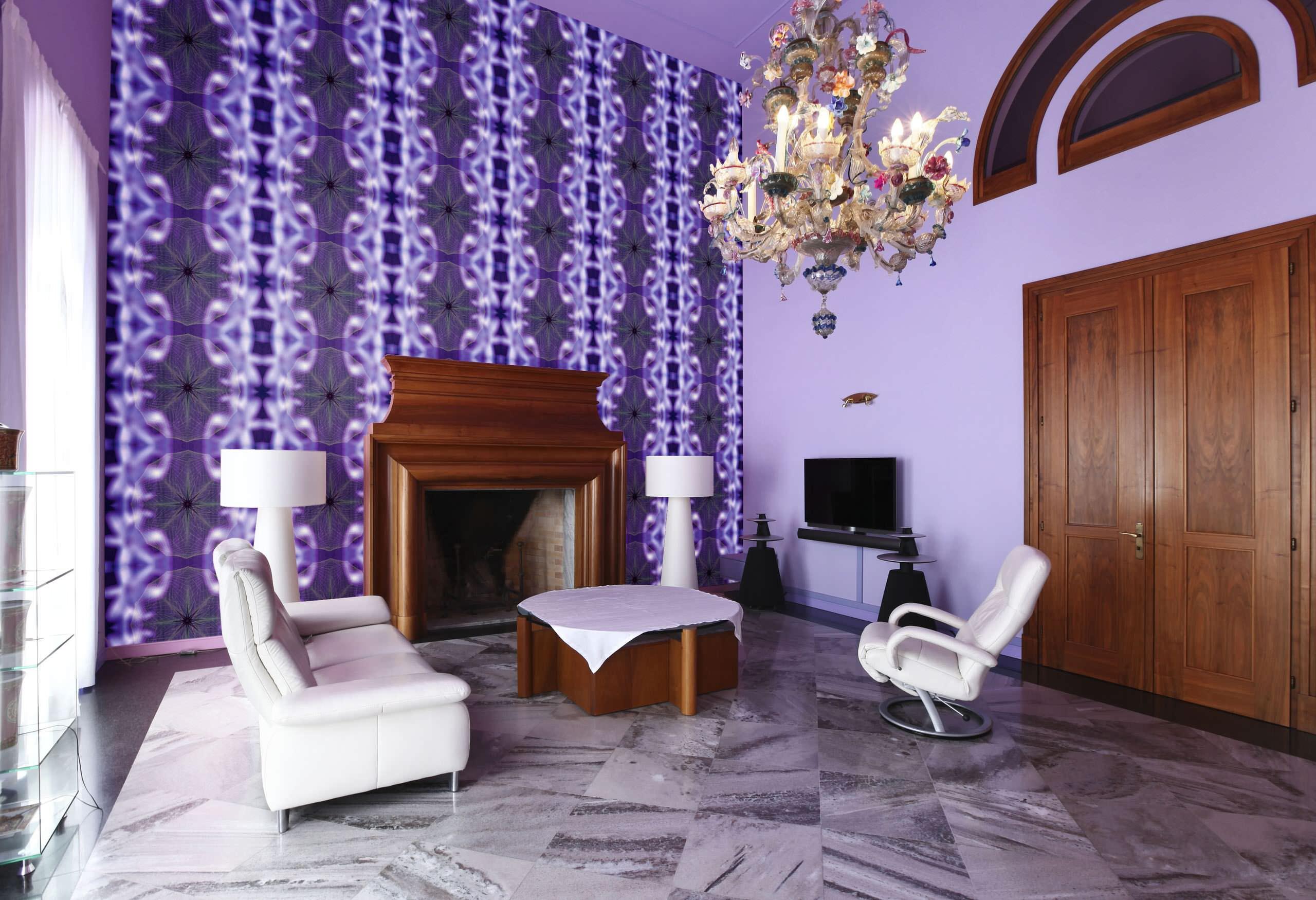 Purple Marble Floor Living Room Ideas