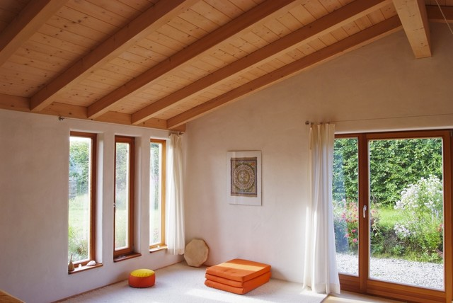 massivholz einfamilienhaus mit gr ndach anbau. Black Bedroom Furniture Sets. Home Design Ideas