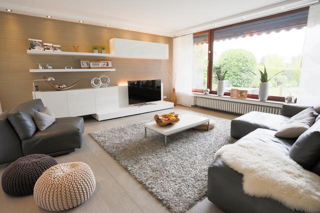 Modern gemütlich und funktional - Modern - Wohnzimmer - Düsseldorf