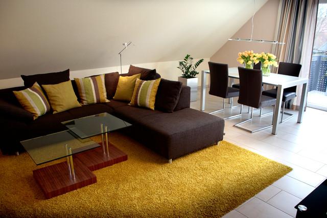 Moderne dachgeschosswohnung modern wohnbereich hannover for Dachgeschosswohnung dekorieren