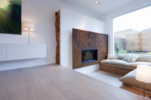Moderne stadtvilla for Modernes haus wohnzimmer