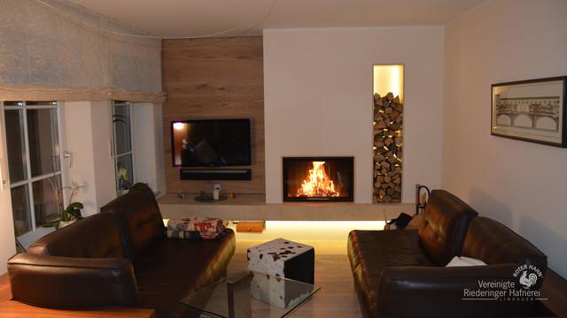 moderner heizkamin f r den wohnraum modern wohnzimmer. Black Bedroom Furniture Sets. Home Design Ideas