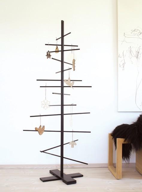 Moderner Weihnachtsbaum.Moderner Weihnachtsbaum Dekorieren Im Skandinavischen Stil