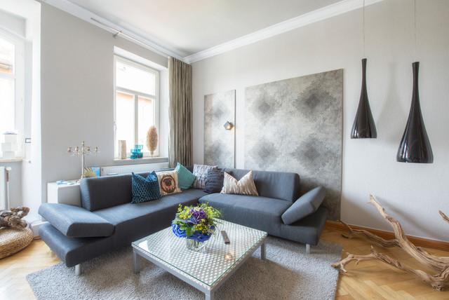 Modernes Wohnzimmer In Jugendstil Wohnung Modern Wohnbereich Idea