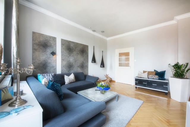 Gut Modernes Wohnzimmer In Jugendstil Wohnung Contemporary Living Room