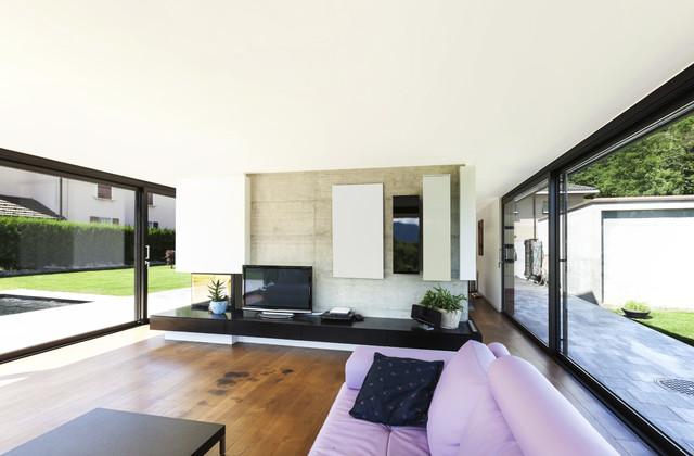 Neubau efh degerí modern wohnzimmer