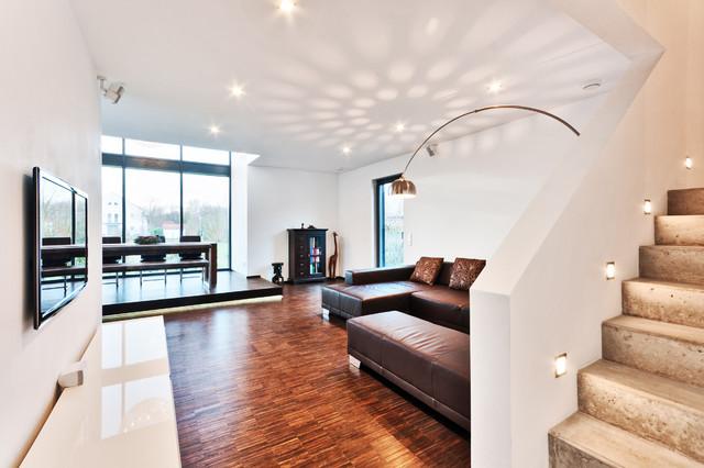 Neubau Einfamilienhaus Heppenheim Modern Wohnzimmer