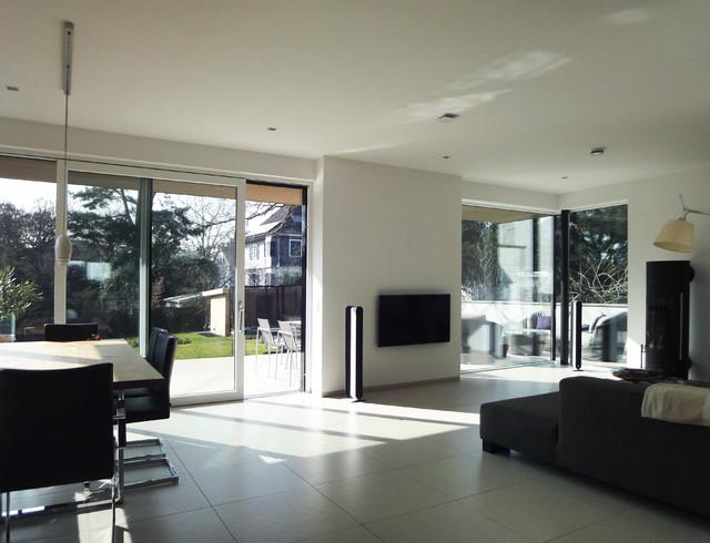 Neubau einfamilienhaus s darmstadt - Modernes wohnen wohnzimmer ...