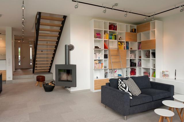 Neubau Einfamilienhaus Modern Wohnzimmer