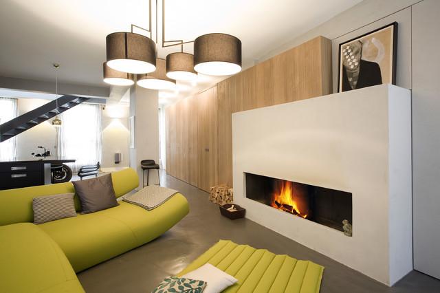 Offener Kamin Modern Wohnbereich