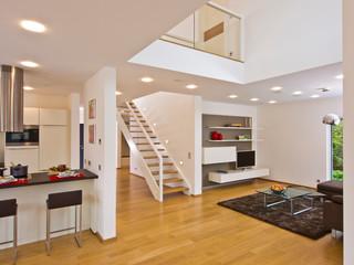 offener wohnbereich. Black Bedroom Furniture Sets. Home Design Ideas
