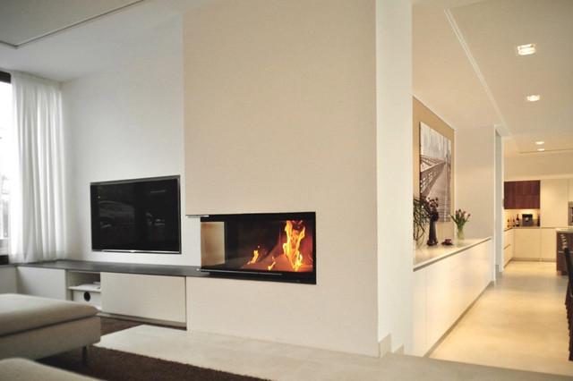 offener wohnbereich mit kamin modern wohnbereich hamburg von lecke architekten. Black Bedroom Furniture Sets. Home Design Ideas